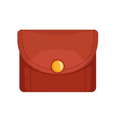 red leather purse money and finance vector image