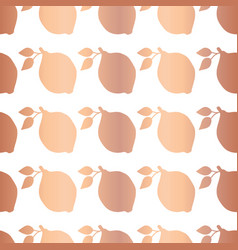 rose gold foil lemon seamless pattern vector image