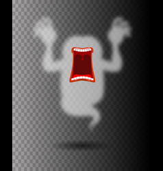 scary ghost phasing transparent monster with an vector image