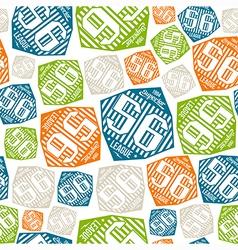 Seamless pattern sport league emblem color vector