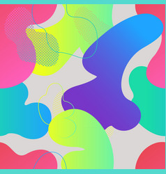 seamless pattern with fluid gradient shapes vector image
