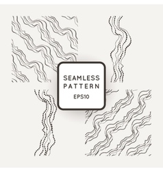 Set of seamless pattern of curved lines vector