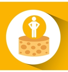 Silhouette man cheese nutrition healthy vector