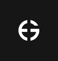 simple letter e and g logo vector image