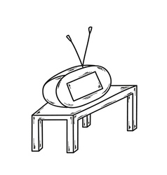 sketch of the small TV vector image