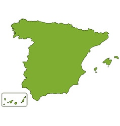 Spain map vector image vector image