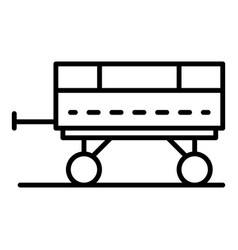 tractor trailer icon outline style vector image