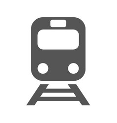 train icon on white background flat vector image