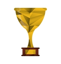 Trophy award sport win sport abstract geometric vector