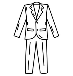 Tuxedo icon doddle hand drawn or black outline vector