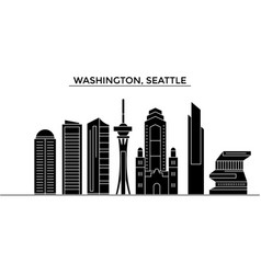 Usa washington seattle architecture city vector