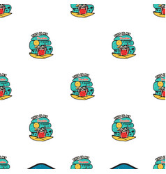 vacation travel seamless pattern with beach scene vector image
