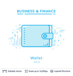 wallet symbol on white vector image