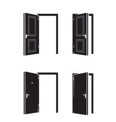 black door vector image vector image