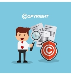 Businessman avatar with copyright concept vector