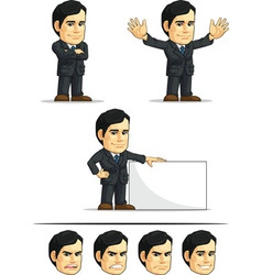 Businessman or Company Executive Customizable 6 vector image vector image
