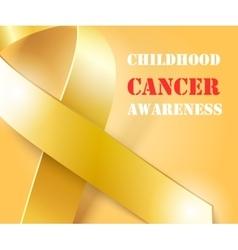 Childhood Cancer Awareness gold ribbon background vector image vector image