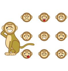 funny monkey face vector image