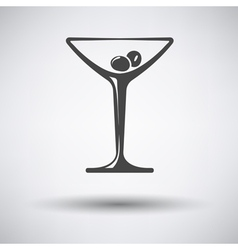 Icon of cocktail glass with olives vector image