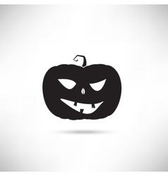 Pumpkin Black Silhouette vector image