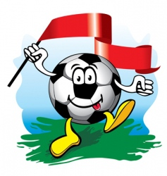 soccer ball with flag vector image vector image