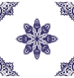 Blue seamless pattern vector image vector image