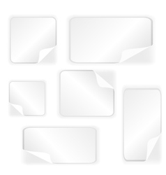 Paper Stickers Collection vector image vector image