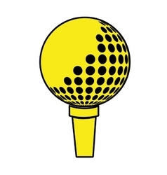 yellow and black golf ball graphic vector image