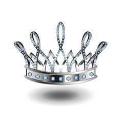 beauty queen silver crown isolated on white vector image
