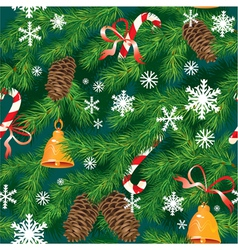 Christmas and New Year background in green colors vector image vector image