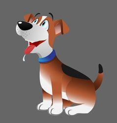dog beagle panting vector image vector image