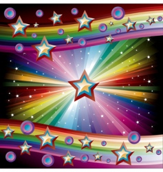 rainbow music background vector image vector image