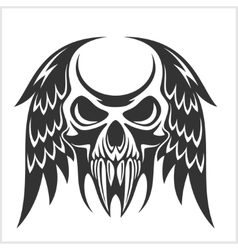 Skull with Wings vector image