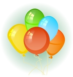 balloons in the form of a circle vector image vector image