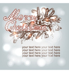 hand-drawn Christmas banner vector image