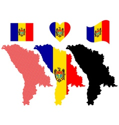 map of Moldova vector image vector image
