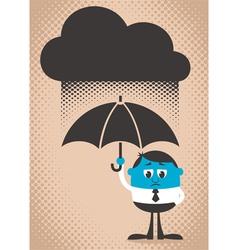 Sad Man vector image vector image