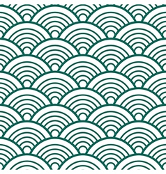 White Green Traditional Wave Japanese Chinese vector image