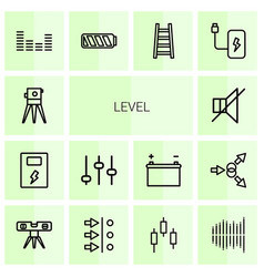 14 level icons vector