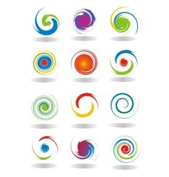 Abstract Circular Twist vector image