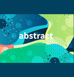 Abstract colorful liquid shape background s vector