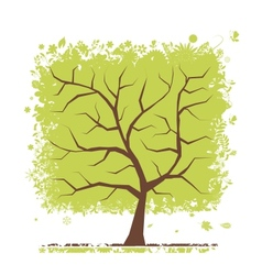 Abstract green tree for your design vector image