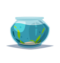 Aquarium with clear water vector