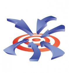 Arrows to target vector