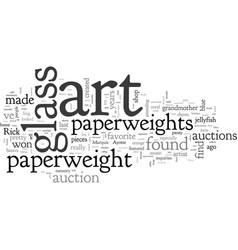 Art glass paperweights vector