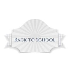 Back to School curved Banner vector