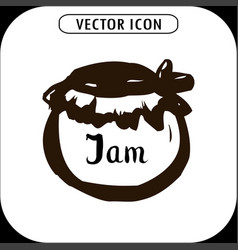 Bank jam icon vector