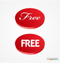 Big red free button vector