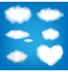 Big Set Clouds vector