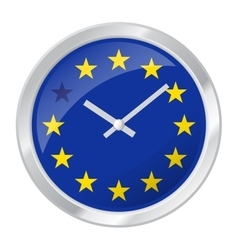 BREXIT clock face with EU flag vector